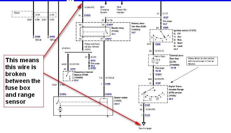 mercury marauder jump fuse box ignition switch dash