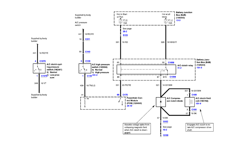 2006 ForestRiver Georgetown Ford F53 AC Wiring - iRV2 Forums | Ford F53 Motorhome Chassis Wiring Diagram |  | iRV2 Forums