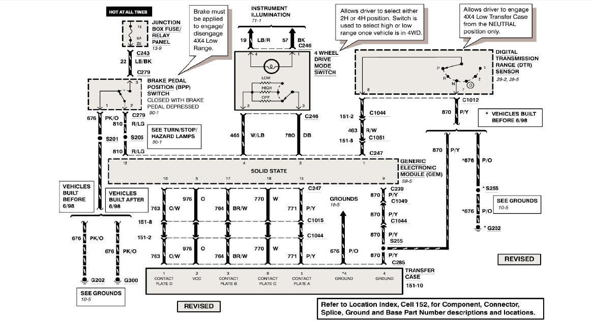 ford f 350 super duty fuse diagram for 2002 four wheel drive does not engage on a 99 f350. no power to ... ford f 350 super duty torque shift wiring diagram