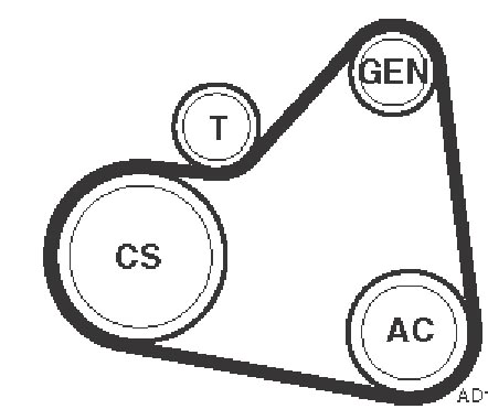 Serpentine Belt Replacement Diagram 4 6