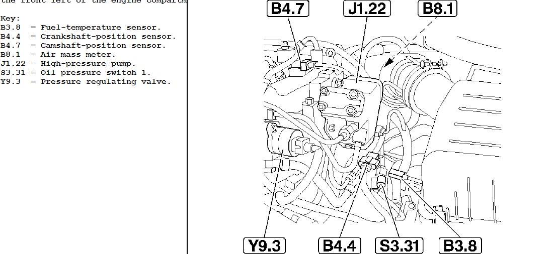 elantra crdi diesel engine  where is the crankshaft sensor