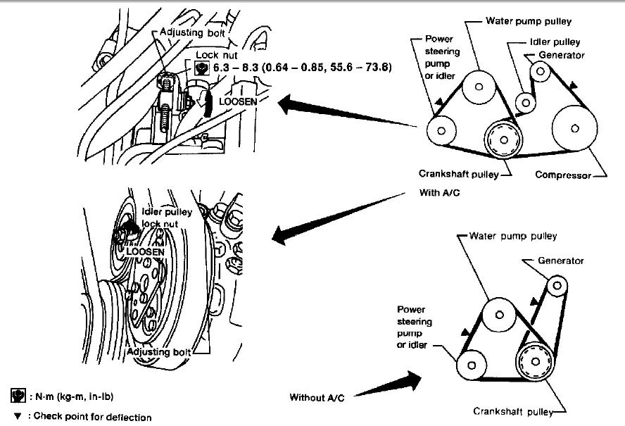 1996 nissan sentra belt diagram