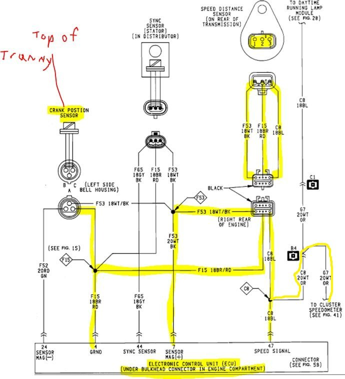 1992 Jeep Wrangler  Wiring Diagram  Diagram Shows Two Wires