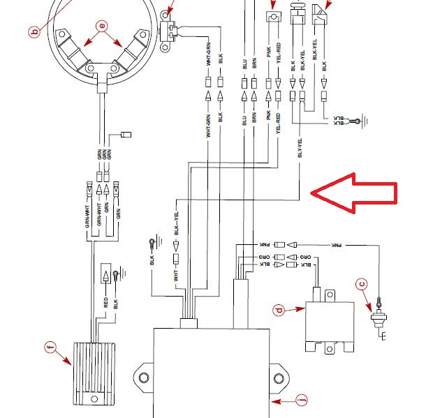 mercury mariner stator wiring diagram