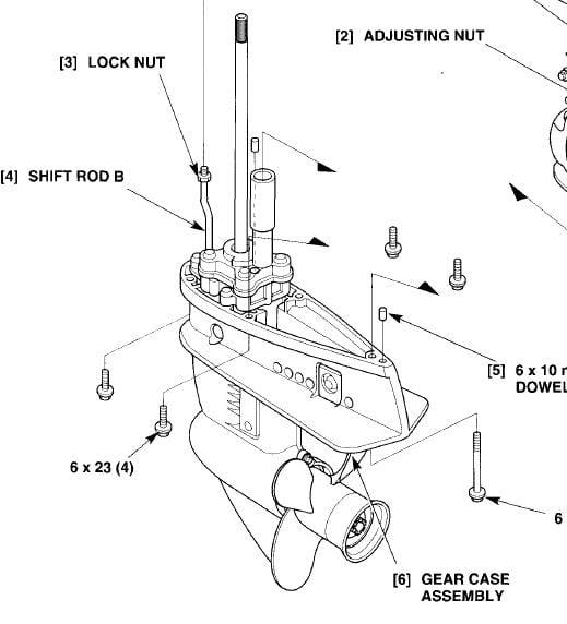 Honda outboard lower unit diagram