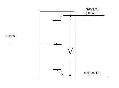 bow and stern light wiring diagram bow image nav lights and stern light will not lite breaker switch on bow and stern light wiring
