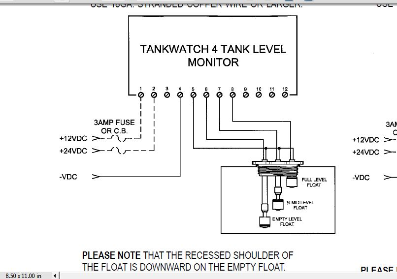 I Have A Tankwatch 4 Level Monitor System Installed In A 2007 42 Ft  Nordic Tug In A 45 Gal