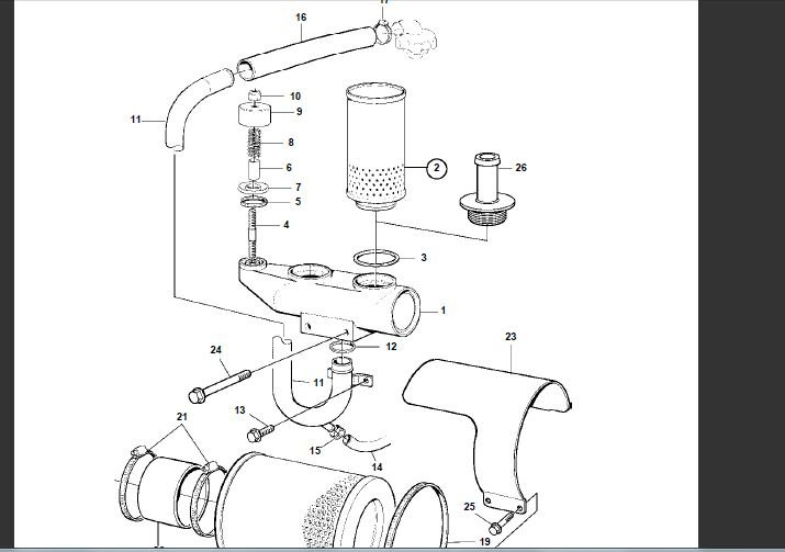 volvo diesel tamd75 12 cylinders crankcase ventillation filters blowing excessive oil probably 3