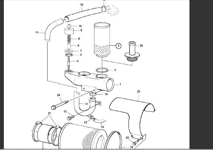 volvo diesel tamd75 12 cylinders crankcase ventillation