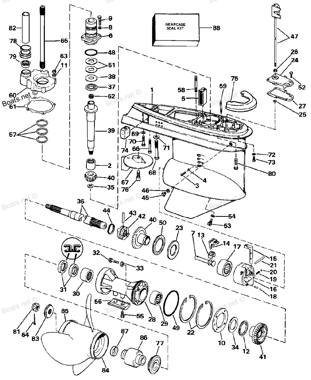omc cobra upper unit diagram