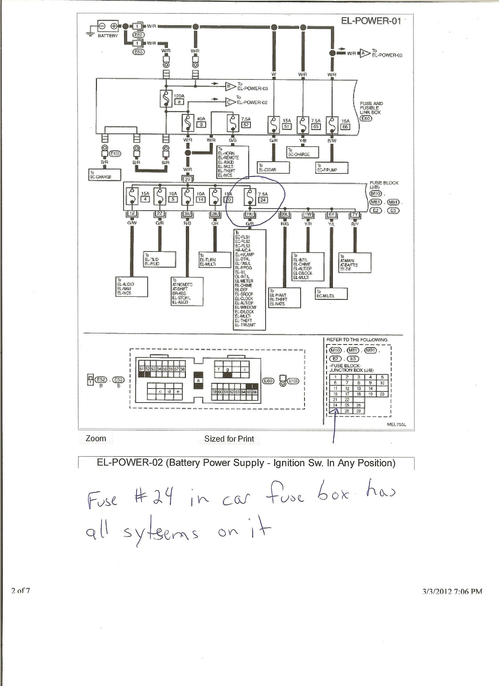 for infiniti g20 fuse box diagram