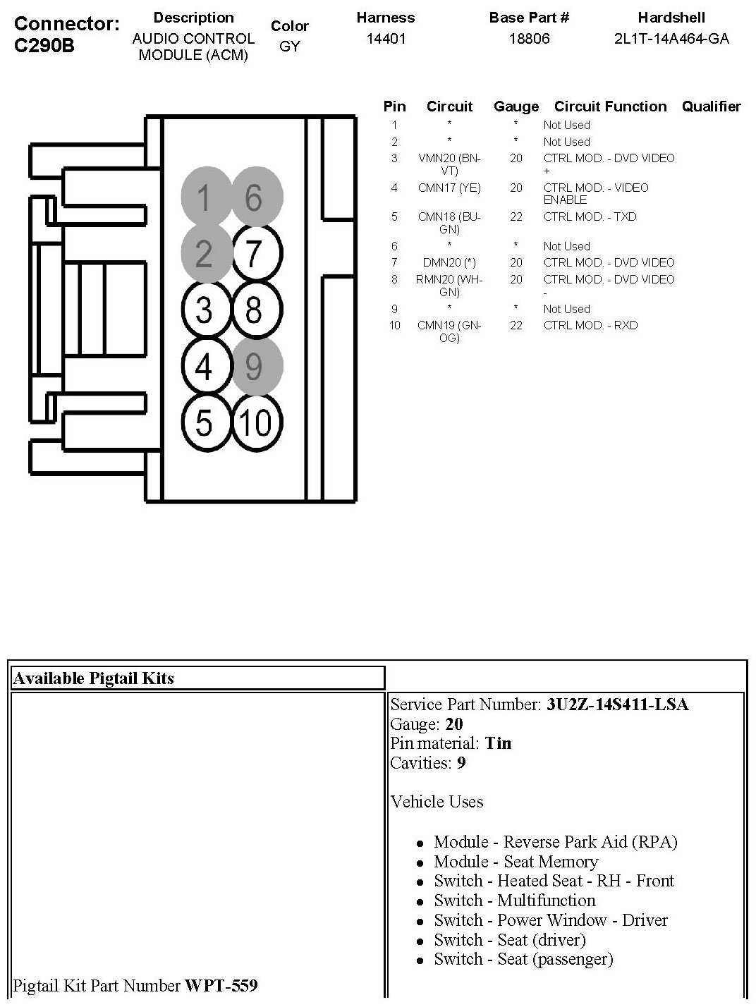2010 f150 wiring diagram 24 16 pin connectors my truck harness full size image