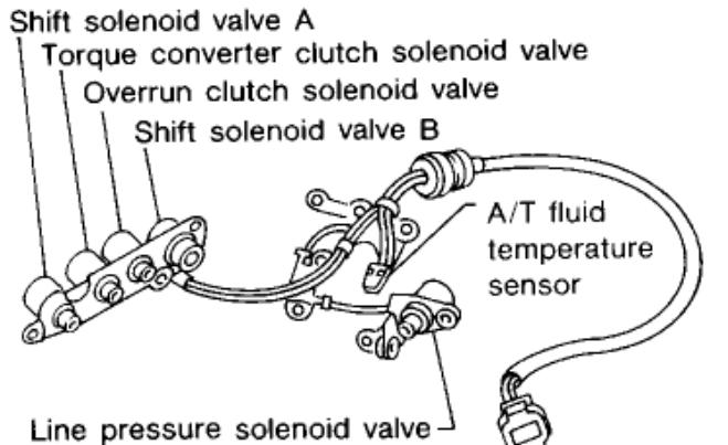 shift solenoid 2 used transmission num speeds 4 chevrolet impala 2004