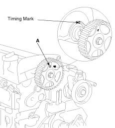 2006 Kia Spectra Timing Chain Alignment Show Marks