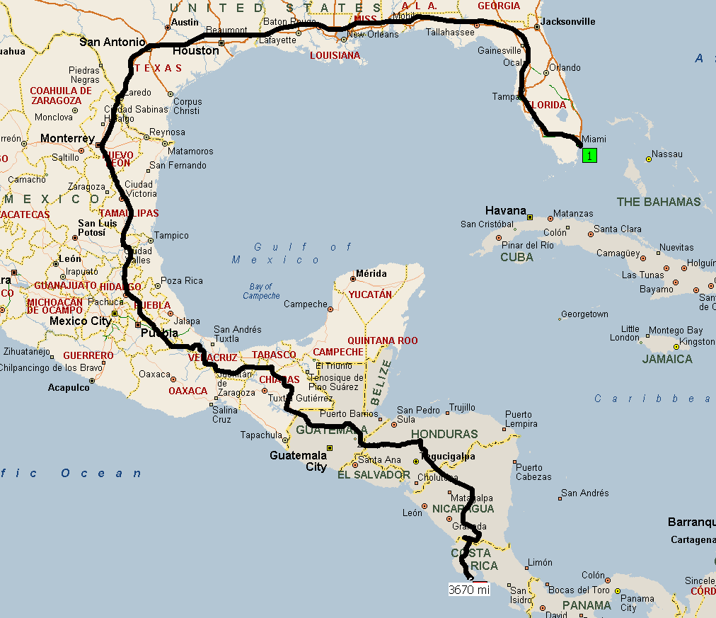 I Need Someone To Draw A Route On Map From Miami FL To QueposManuel - Map of miami florida