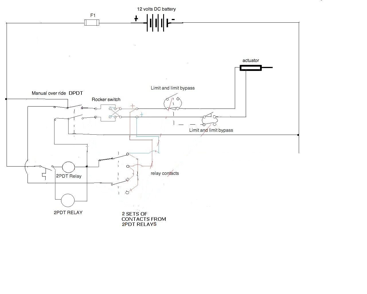 12 Volt Linear Actuator Wiring I Need A Diagram For V Oreck Xl Switch Application All Components The Rocker Back Feed On