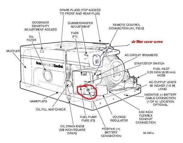 Wiring Diagram For Onan 5500 Generator : I have a fleetwood searcher with an onan generator