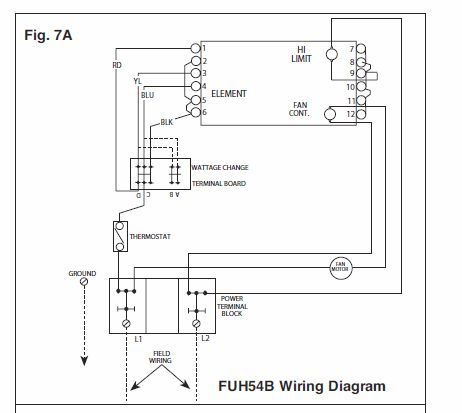 red and white water heater wiring diagram qmark heater wiring diagram i need a wall mount thermostat to use with a fahrenheat ...