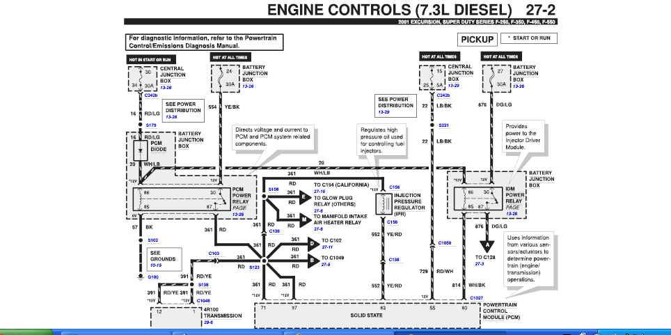 2003 F350 Ficm Relay Location 2003 Free Engine Image For