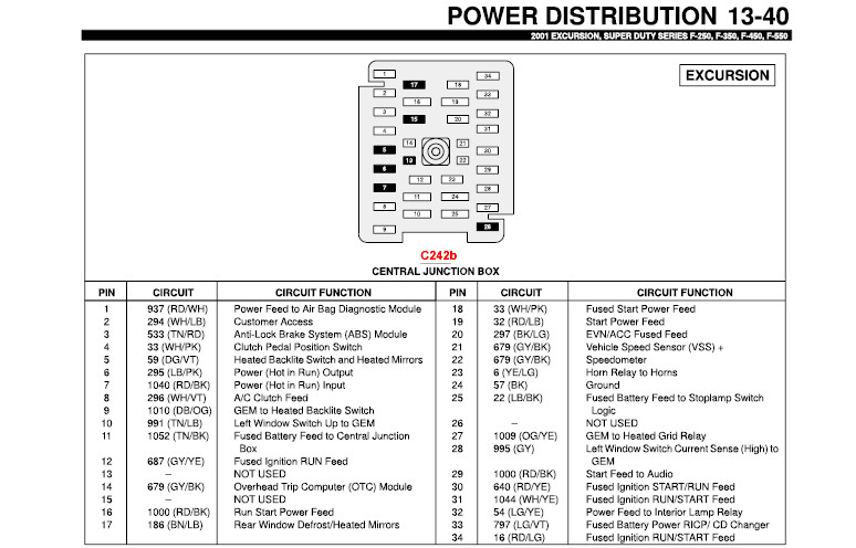 2002 f 350 lariat fuse diagram