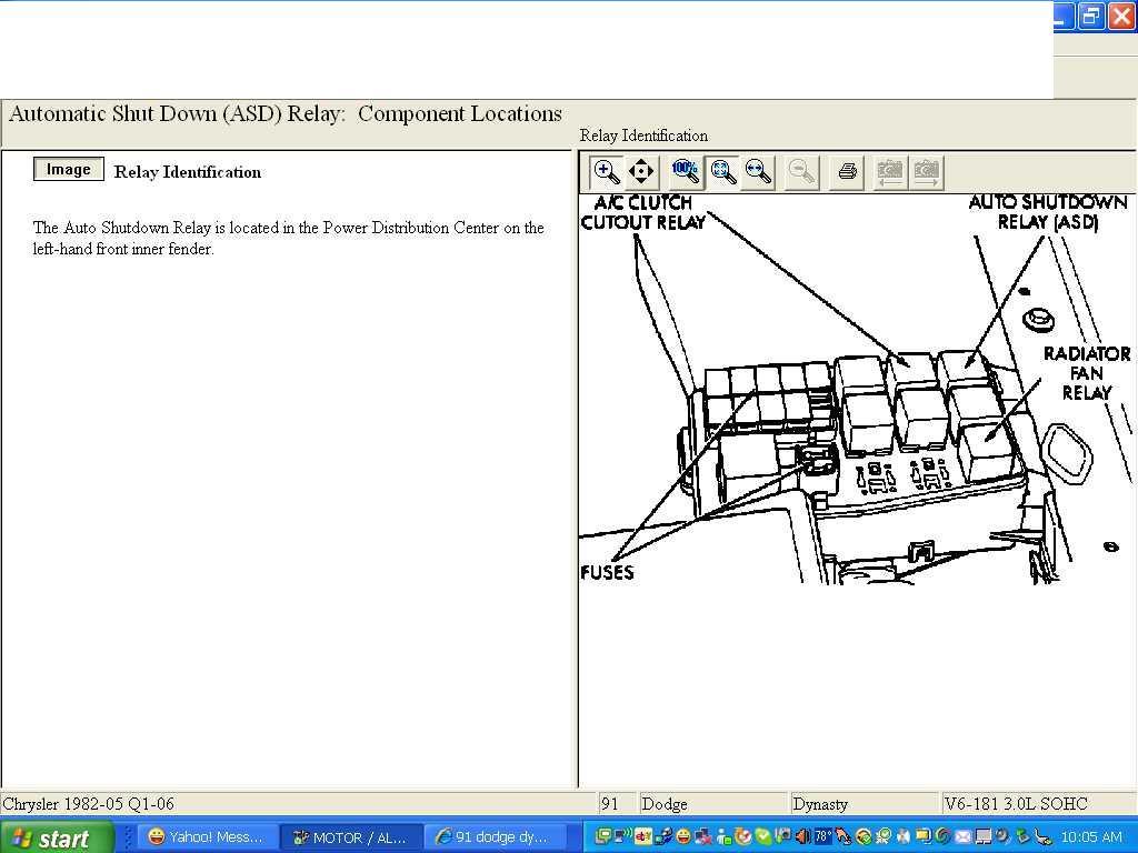 1993 Dodge Dakota Relay Diagram Block And Schematic Diagrams Dynasty Fuse Box Fuel Pump Location Free 2006 Asd