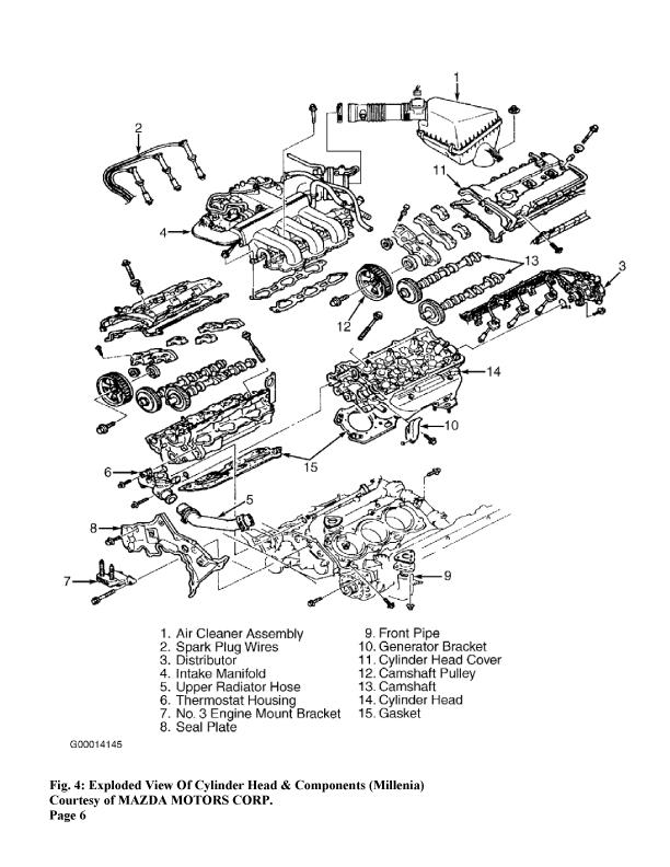 2001 2 5l mazda millenia engine diagram html