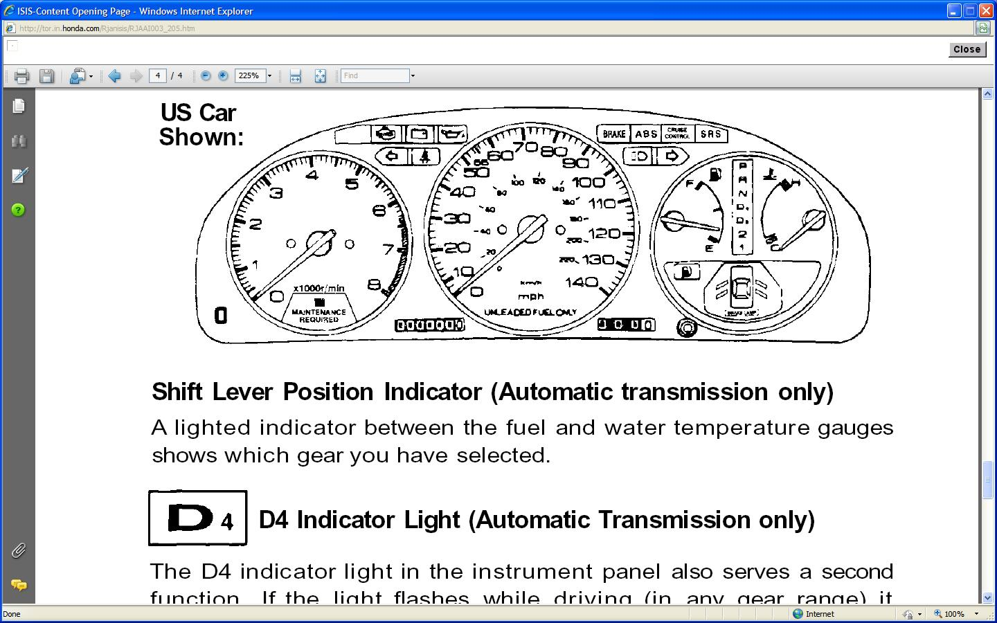 a wrench indicator light on the honda crv dash what does