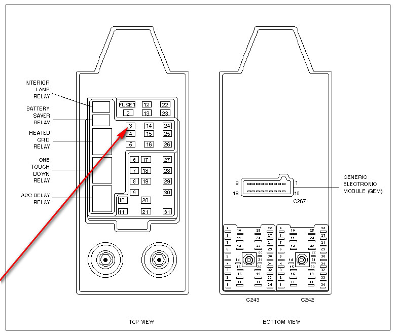 fuse box diagram 1998 ford f 350