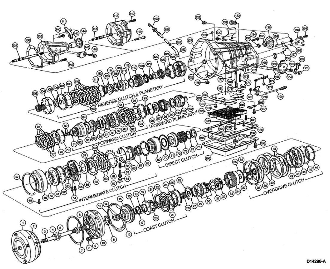 wiring diagrams for ford overdrive transmission
