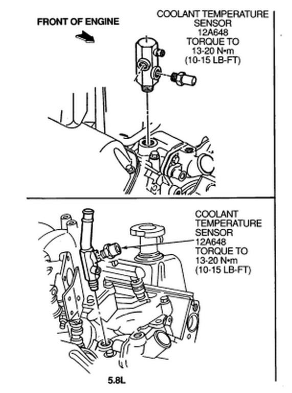 1991 f150 engine coolant temperature sensor html