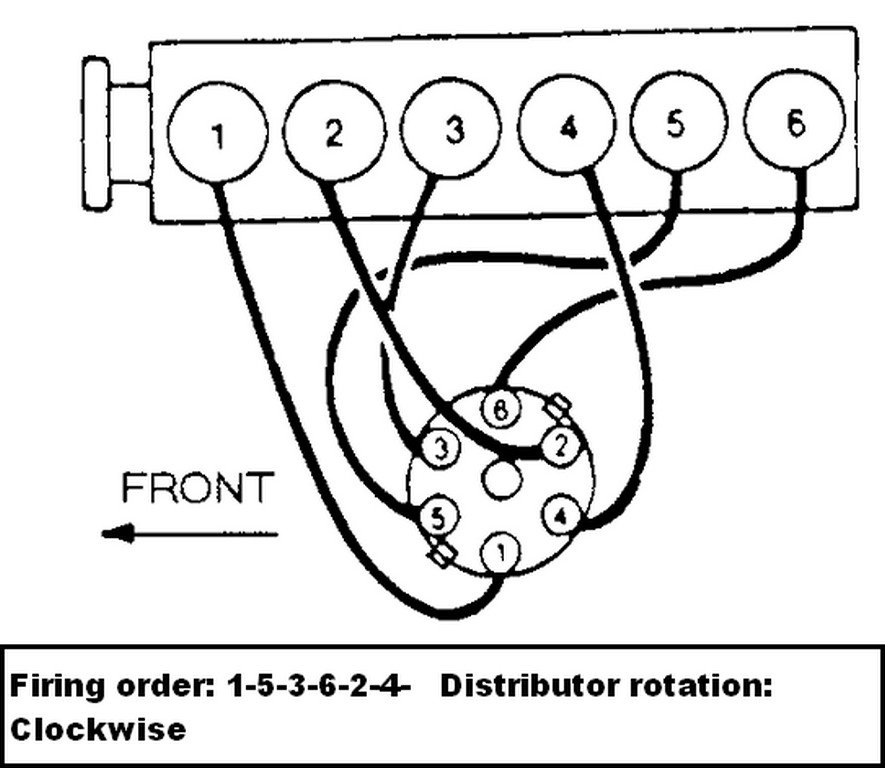 what is the firing order for a 300 six cylinder ford