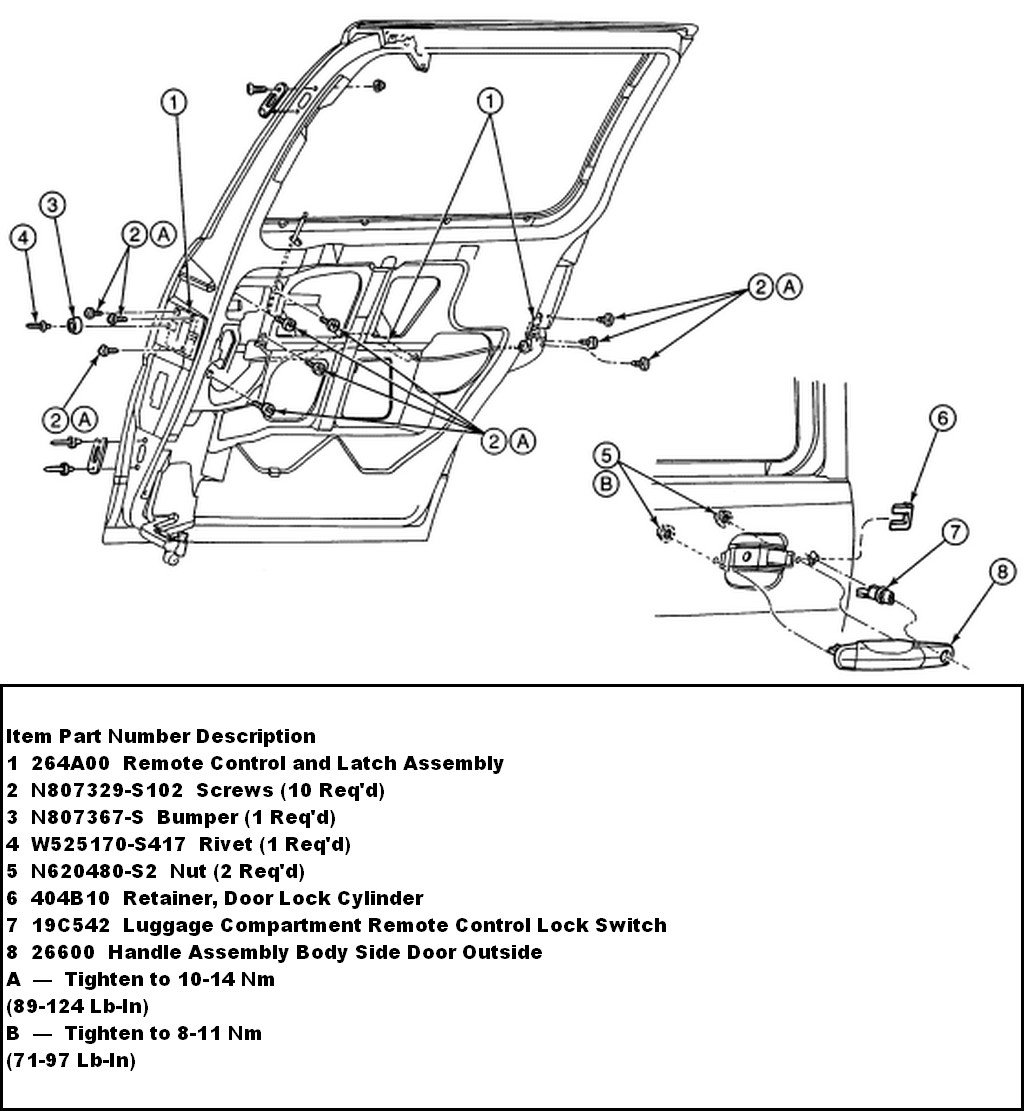 2007 ford focus door handle parts diagram  ford  auto