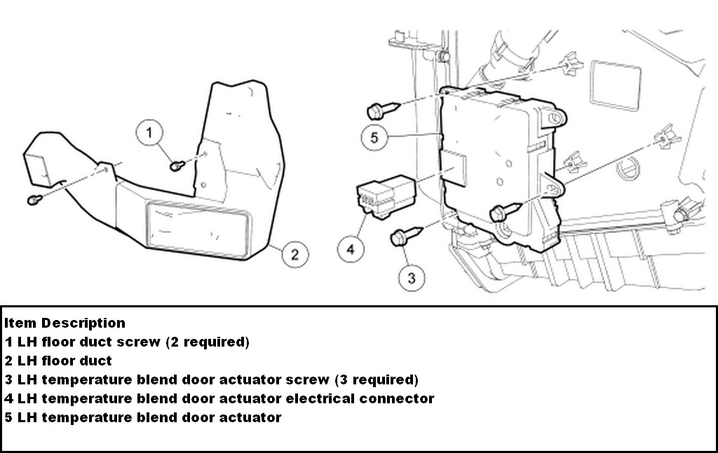 replace blend door actuator 2005 ford explorer autos post