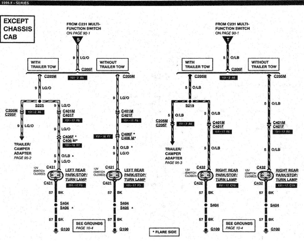 93 ford f 350 trailer wiring diagram
