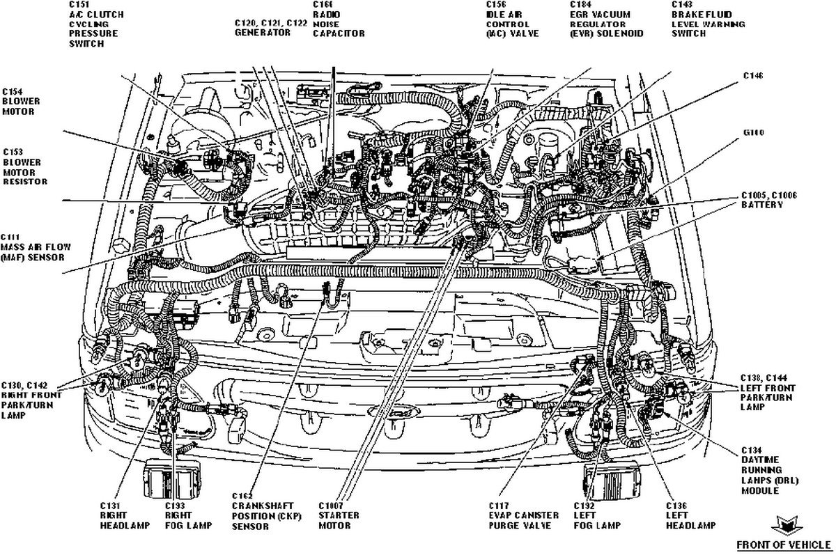 where and how can i change the air mass sensor on my ford 1999 ford explorer engine diagram