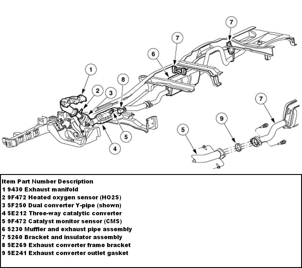 2002 Ford Ranger Exhaust System Diagram Wiring Diagrams Explorer O2 1999 2001