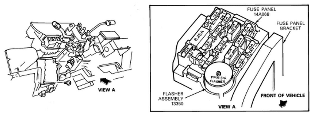 where is the turn signal flasher relay located on a 2001