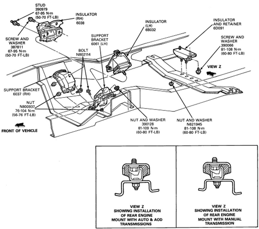ford focus engine mount diagram how do i replace the engine mounts on a f150 1992? the ... ford focus engine compartment diagram #10