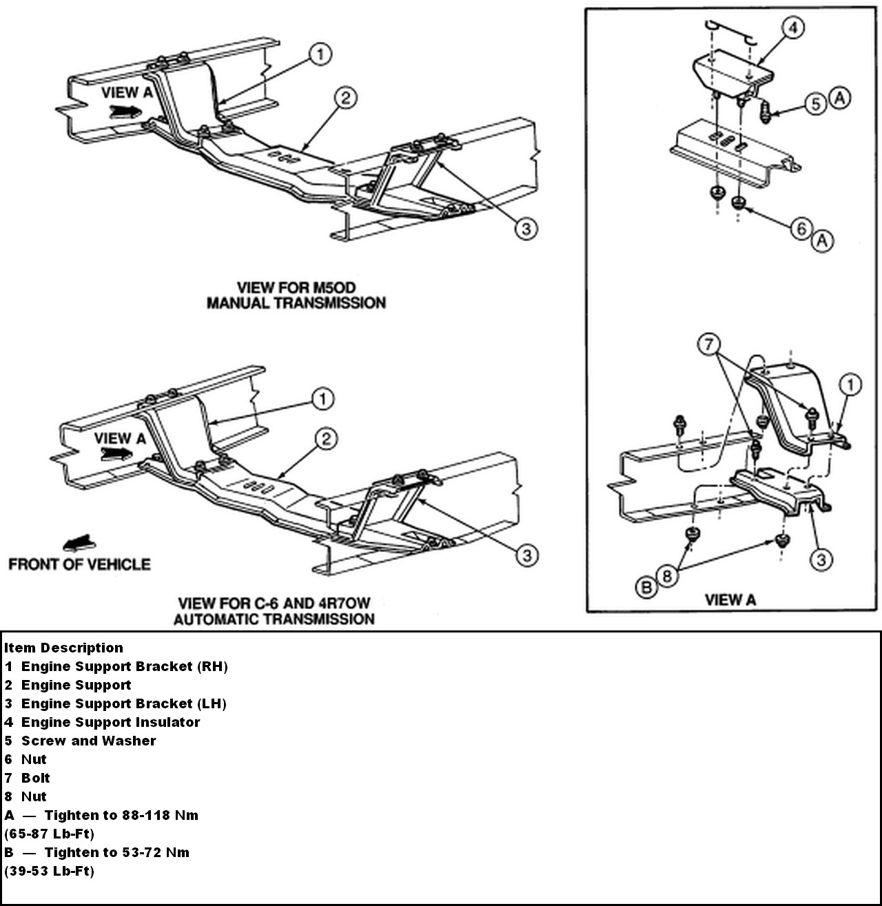 service manual  how to remove the crossmember for a 2009
