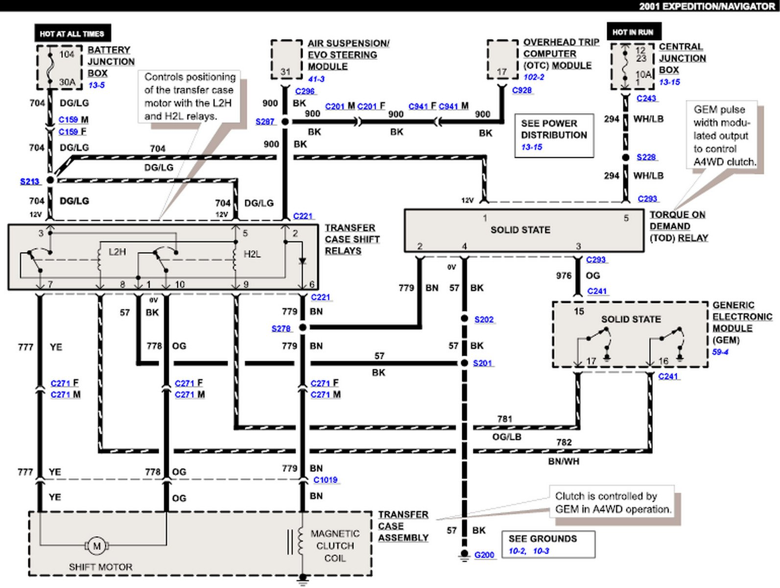 2001 lincoln navigator mechanic says somewhere the wiring diagram graphic