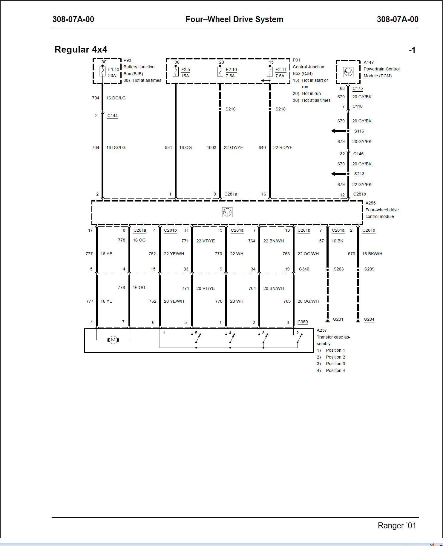 2001 ford ranger wiring diagram