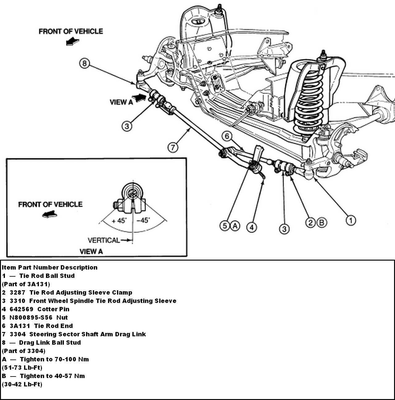 2003 ford f 250 front axle steering diagram html