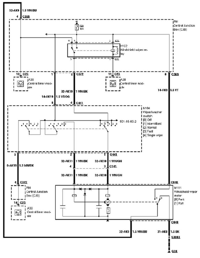 98 ford contour wiring diagram