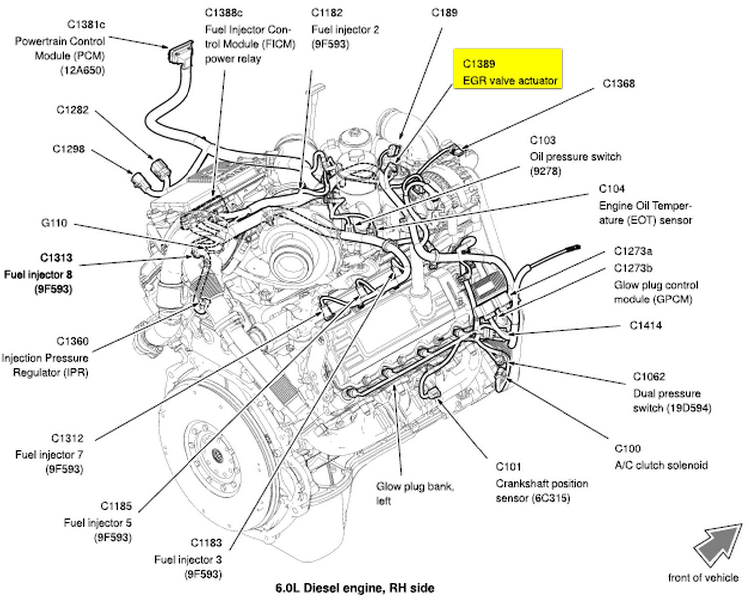97 Ford F 250 5 8 Engine Diagram besides A Diagram For 1995 Gmc Jimmy Motor likewise 2006 Ford Focus Engine Coolant Sensor Replacement moreover 4eewf Ford F 250 Super Duty Fx4 2004 F250 V10 Oil Pressure Gauge also Ford F150 F250 How To Replace Serpentine Belt 359906. on ford triton v10 engine belt diagram