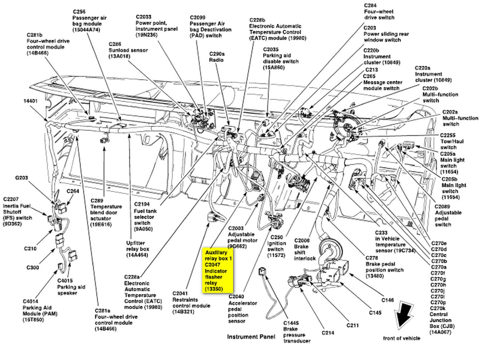 99 Dodge Dakota Turn Signal Wiring Diagram additionally T23314380 2014 ford e series headlight turn off also 952566 Headlight Wiring Diagram 02 F250 W Drl additionally Ford F 150 1993 Ford F150 993 Ford F 150 Steering Column as well Ford Windstar 1998 Ford Windstar Gem Module. on multifunction wiring diagram 2002 f350