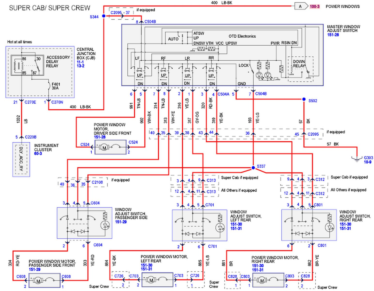 2010 F150 Wiring Diagram : Ford f power window problems