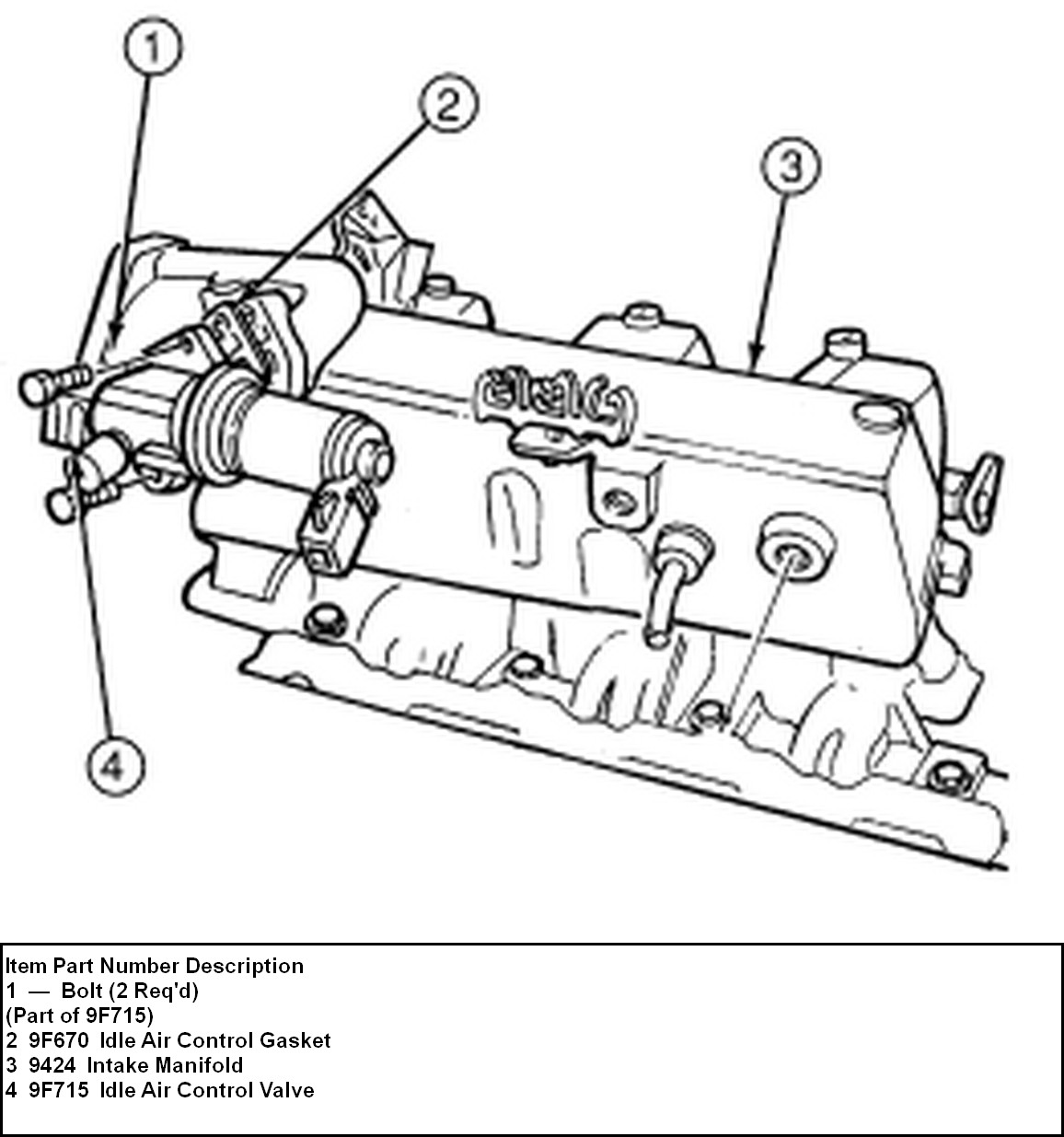 ford escort idle speed control valve location