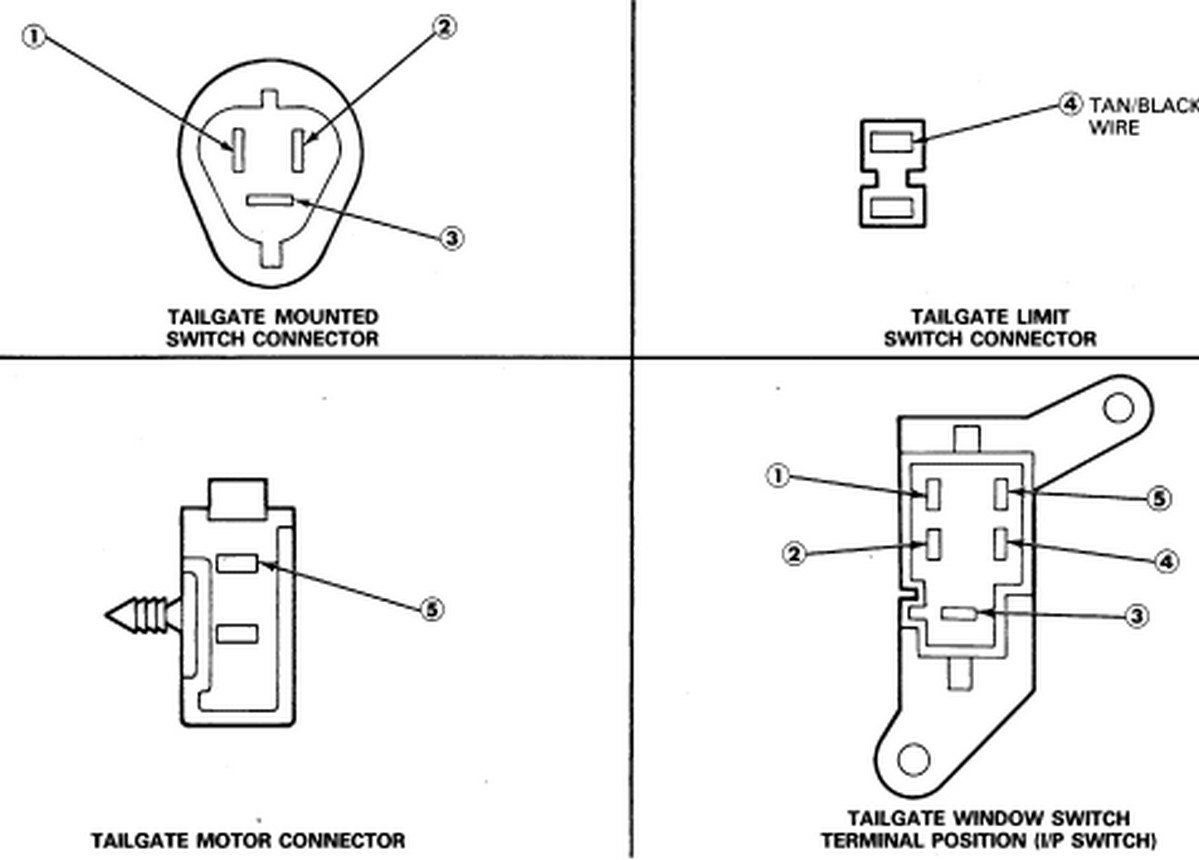 1990 ford bronco tailgate wiring diagram wiring schematics and my 1990 fullsize bronco tailgate window will not go down it