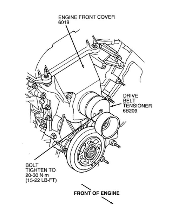 ford taurus dohc belt diagram
