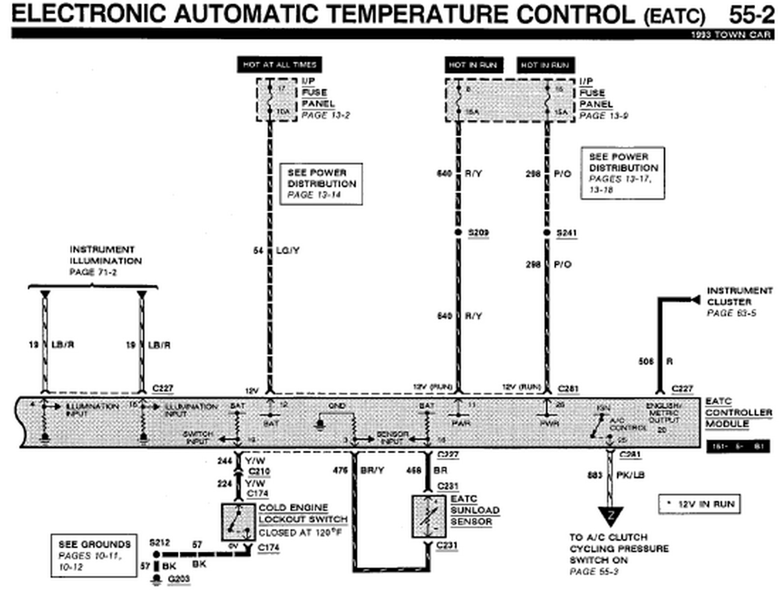 I need an A/C control head wiring diagram for a 93 Lincoln ...